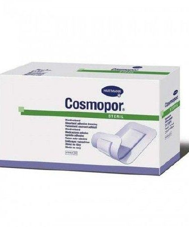 Adhesive Dressing Cosmopor® 4 X 10 Inch NonWoven Rectangle White Sterile
