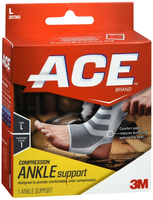 Ankle Sleeve ACE Slip-On Left or Right Foot L OR XL
